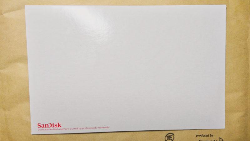 SANDISKSDカード表